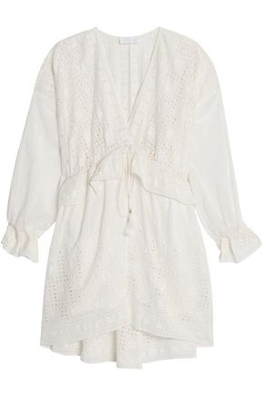 ZIMMERMANN Ruffled broderie anglaise cotton and silk-blend dress