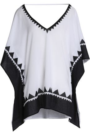 VIX PAULAHERMANNY Solid Piecing two-tone kaftan