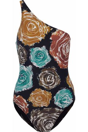 NORMA KAMALI One-shoulder floral-print swimsuit