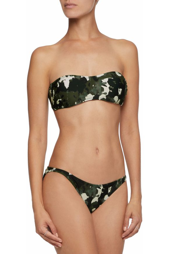 Printed bandeau bikini top | NORMA KAMALI | Sale up to 70% off | THE OUTNET