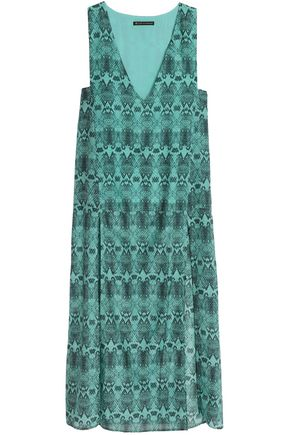 VIX PAULAHERMANNY Snake-print cotton and silk-blend maxi dress