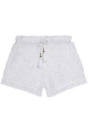 DIANE VON FURSTENBERG Crocheted cotton shorts