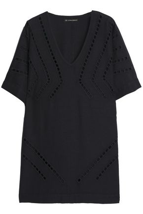 VIX PAULAHERMANNY Luma lattice-trimmed gauze coverup
