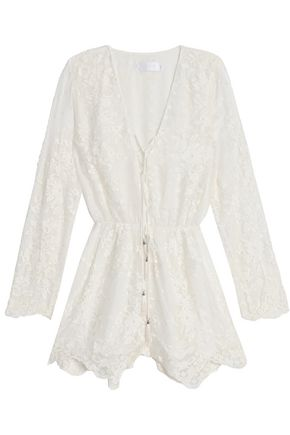 ZIMMERMANN Broderie anglaise cotton and silk-blend jumpsuit