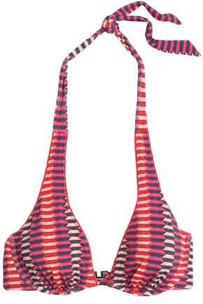 HEIDI KLUM SWIM Catalina Kisses printed underwired bikini top