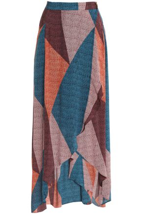 VIX PAULAHERMANNY Color-block woven maxi skirt