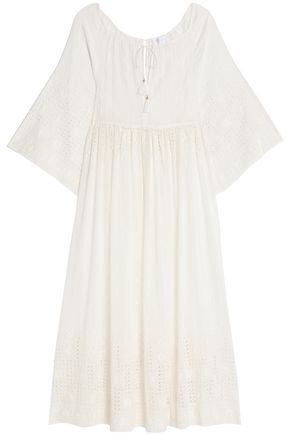 ZIMMERMANN Harlequin cutout broderie anglaise cotton and silk-blend coverup