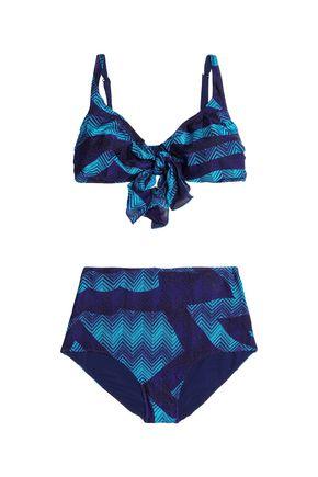 MISSONI Metallic crochet-knit high-rise bikini