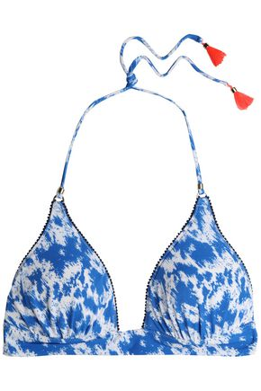 HEIDI KLUM SWIM Tasseled printed triangle bikini top