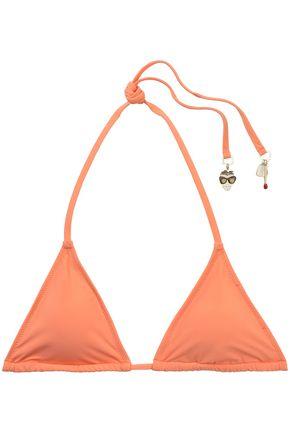 STELLA McCARTNEY Embellished triangle bikini top