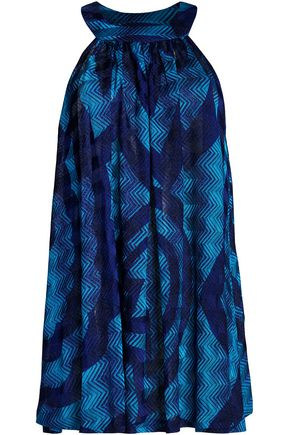 MISSONI Metallic crochet-knit coverup