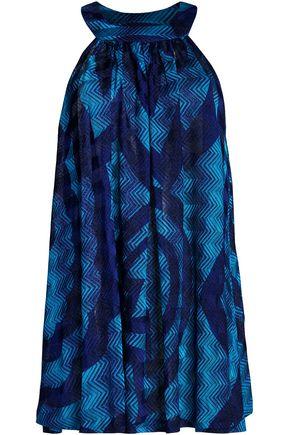 MISSONI MARE Metallic crochet-knit coverup