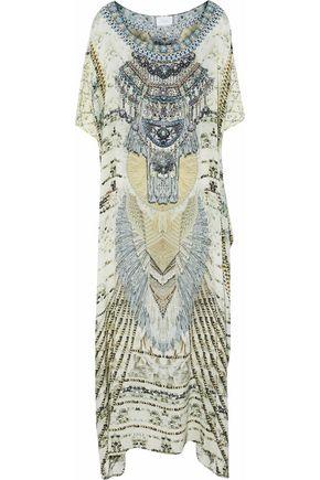 CAMILLA Convertible crystal-embellished printed silk kaftan