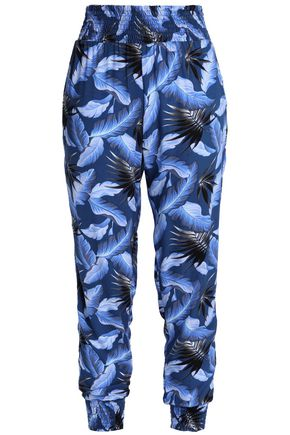 MIKOH Shirred printed track pants