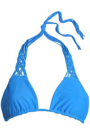 MIKOH Macramé-trimmed triangle bikini top
