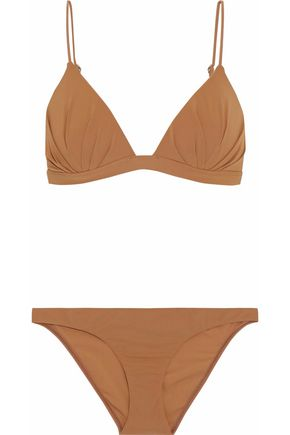 ZIMMERMANN Pleated triangle bikini