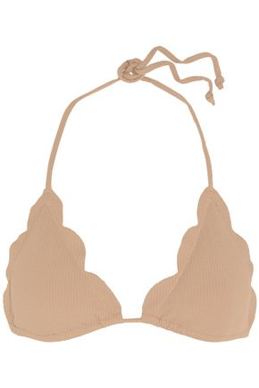 MARYSIA Broadway scalloped triangle bikini top