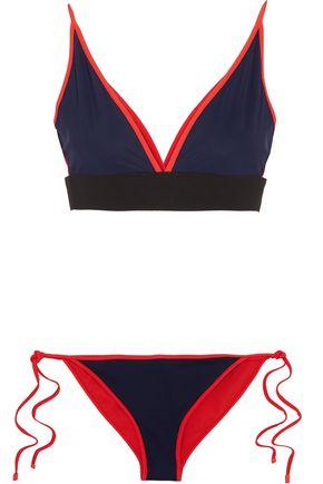 JONATHAN SIMKHAI Reversible bonded jersey triangle bikini