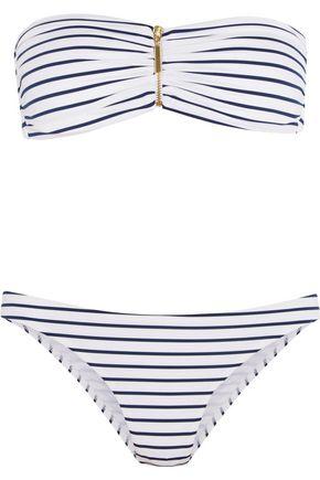 MELISSA ODABASH Sumatra striped bandeau bikini
