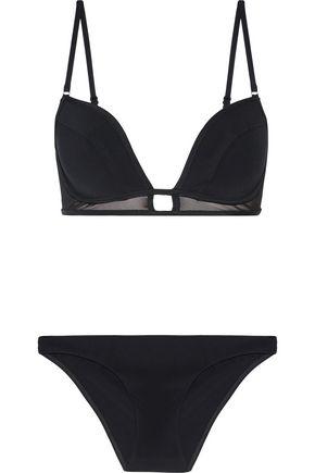 ZIMMERMANN Ticking Bonded Tulip low-rise bikini briefs