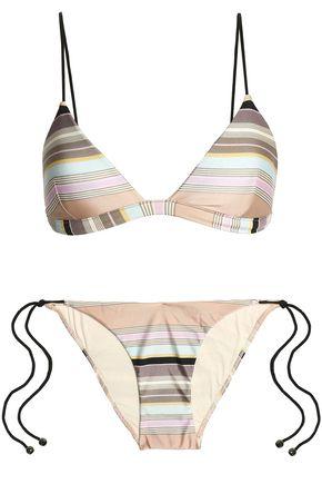 ZIMMERMANN Striped triangle bikini