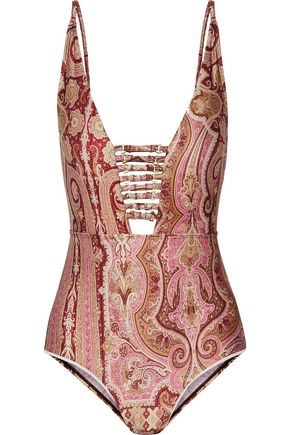 ZIMMERMANN Realm Harness printed swimsuit