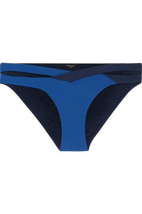 HEIDI KLUM SWIM Low-rise color-block cutout bikini briefs