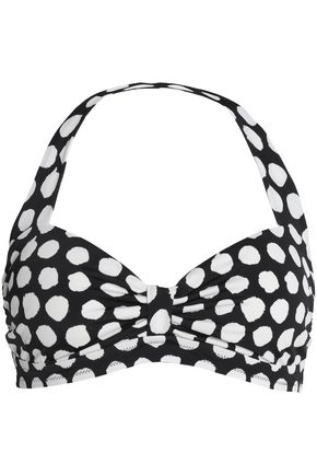 KAMALIKULTURE by NORMA KAMALI Printed halterneck bikini top