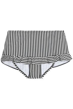 KAMALIKULTURE by NORMA KAMALI Ruffle-trimmed printed high-rise bikini briefs
