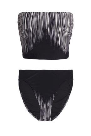 NORMA KAMALI Printed bandeau bikini