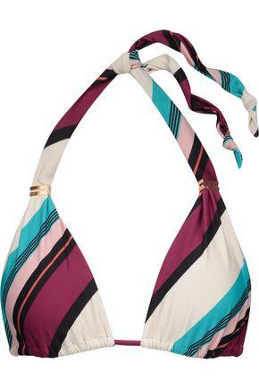 VIX Vintage Stripe Bia printed triangle bikini top