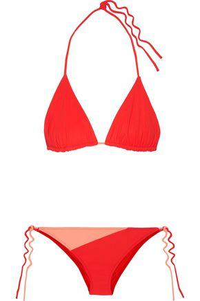 EMILIO PUCCI Reversible two-tone triangle bikini