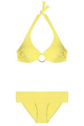 MELISSA ODABASH Brussels ruched halterneck bikini