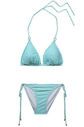 MELISSA ODABASH Key West printed triangle bikini