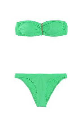 MELISSA ODABASH Sumatra zip-detailed bandeau bikini