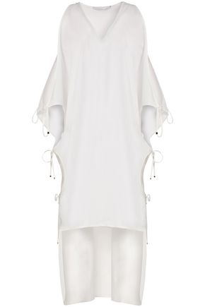 ROSETTA GETTY Cold-shoulder cotton tunic