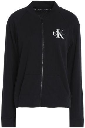 CALVIN KLEIN Cotton-blend jersey jacket