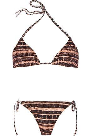 PROENZA SCHOULER Printed triangle bikini