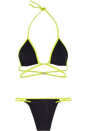 L'AGENT by AGENT PROVOCATEUR Cari two-tone triangle bikini
