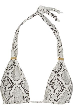 VIX Serpent snake-print triangle bikini top