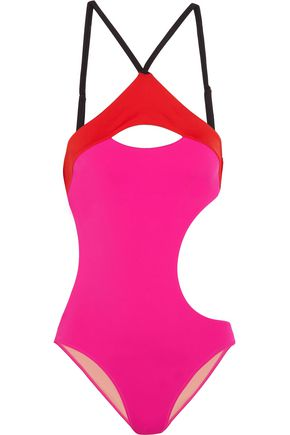 L'AGENT by AGENT PROVOCATEUR Alenya cutout color-block swimsuit