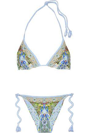 CAMILLA My Marjorelle reversible embellished triangle bikini
