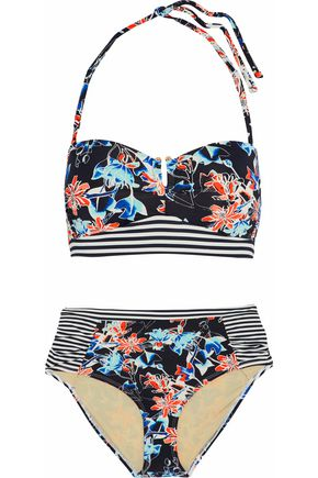 TART COLLECTIONS Ruched printed bandeau bikini