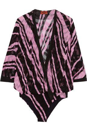 MISSONI Fringed-trimmed crochet-knit bodysuit