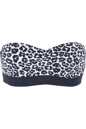 STELLA McCARTNEY Leopard-print bandeau bikini top