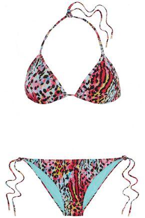 MATTHEW WILLIAMSON Leopard-print triangle bikini