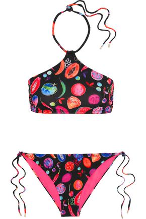 MATTHEW WILLIAMSON We Liming printed halterneck bikini