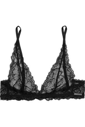 CALVIN KLEIN Lace soft-cup triangle bra