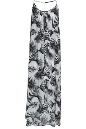 MIKOH Hamptons printed silk maxi dress