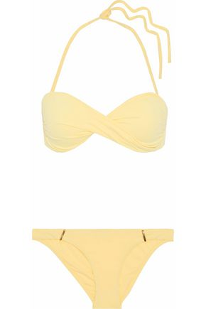 MELISSA ODABASH Martinique twisted striped bandeau bikini